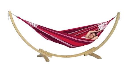 Amazonas Apollo hængekøje med stativ i træ