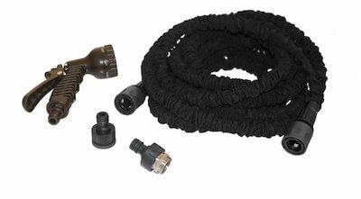 Hortus sort slange smart adaptor og kobling på 30 meter