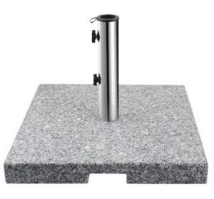Klassisk grå granit parasolfod på 40 kg