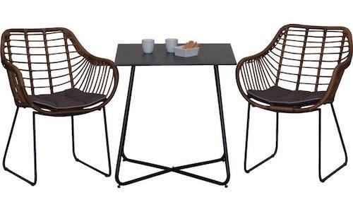 Løkken cafesæt med 2 Hornbæk stole