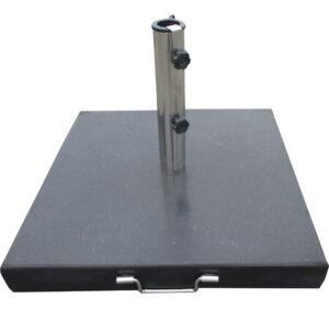 Parasolfod sort granit 60 kg med håndtag