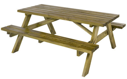 Plus klassisk bord-bænkesæt som alle kender