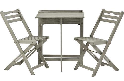 Zerni cafesæt i FSC akacietræ med 2 klapstole