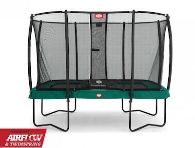 Berg Ultim Champion 330 - Bedste firkantet trampolin til mindre haver