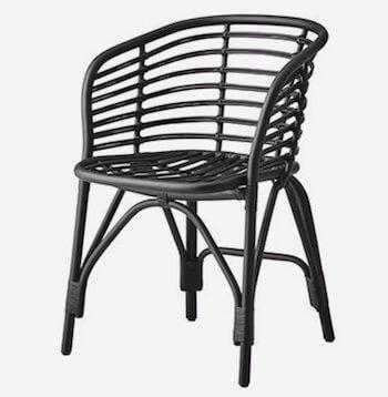 Cane-line blend stol i pulverlakeret aluminium