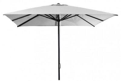 Care-line Oasis parasol i aluminum og snoretræk i str. 2 x 2 og 3 x 3 meter