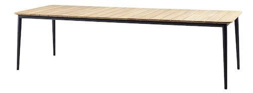 Care-line luksus havebord med flotte teaktræslameller