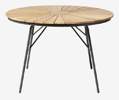 Cinas Hard & Ellen bord i teaktræ i retro design og stel i antracit
