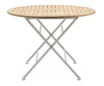 Merano prisvenligt og fleksibelt rundt havebord i træ