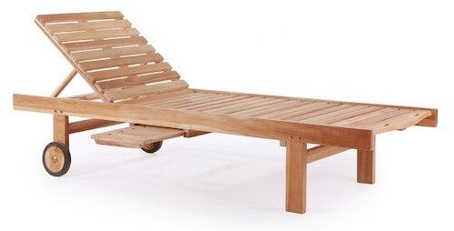 Osaka teak ligge stol i klassisk design