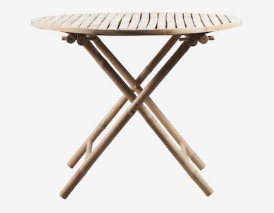Tine_k_home_foldbart_bambus_havebord_Ø_90_cm