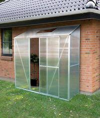 Elholm Økoline prisvenlig 1,2 m² lille drivhus med polycarbonatplader