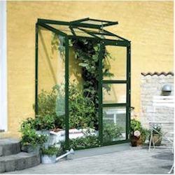 Halls Altan 2 0,9 m2 væg drivhus polycarbonat med 4 mm glas