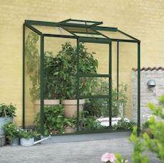Halls Altan 3 drivhus til væg med 3 mm glas og 1,3 m2
