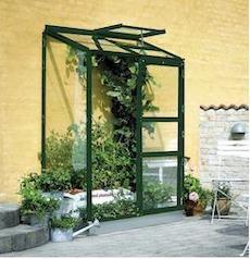Halls Altan drivhus 0,9 m2 med 4 mm hærdet polycarbonat glas