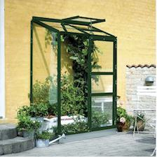 Halls Altan drivhus med 3 mm glas og praktisk vindue og dør