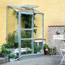 Halls budgetvenlig vægdrivhus 2 på 0,9 m2 + 3 mm glas