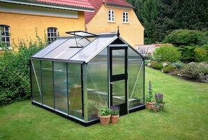 Juliana Compact drivhus polycarbonat 5,0 m2 med alu profiler