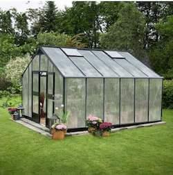 Juliana Gartner drivhus 16,2 m2 i klassisk design med 10 mm poly