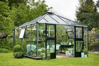 Juliana Oase drivhus i høj kvalitet med 3 mm hærdet glas