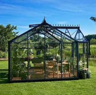 Juliana Orangeri stort 15,2 m2 oase hus i antracit og hærdet glas