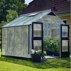 Juliana Premium populær drivhus 8,8 m2 med 10 mm polycarbonat