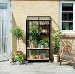 Juliana Urban City Greenhouse vægdrivhus med hjul og 4 mm glas