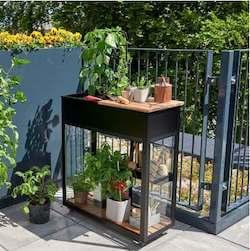 Juliana Urban Vertikal drivhus til terrasse med 4 mm hærdet glas