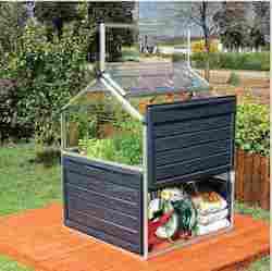Palram lille drivhus med højbed og smart opbevaring