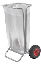 Ravendo affaldsvogn med punkterfri hjul og glideleje